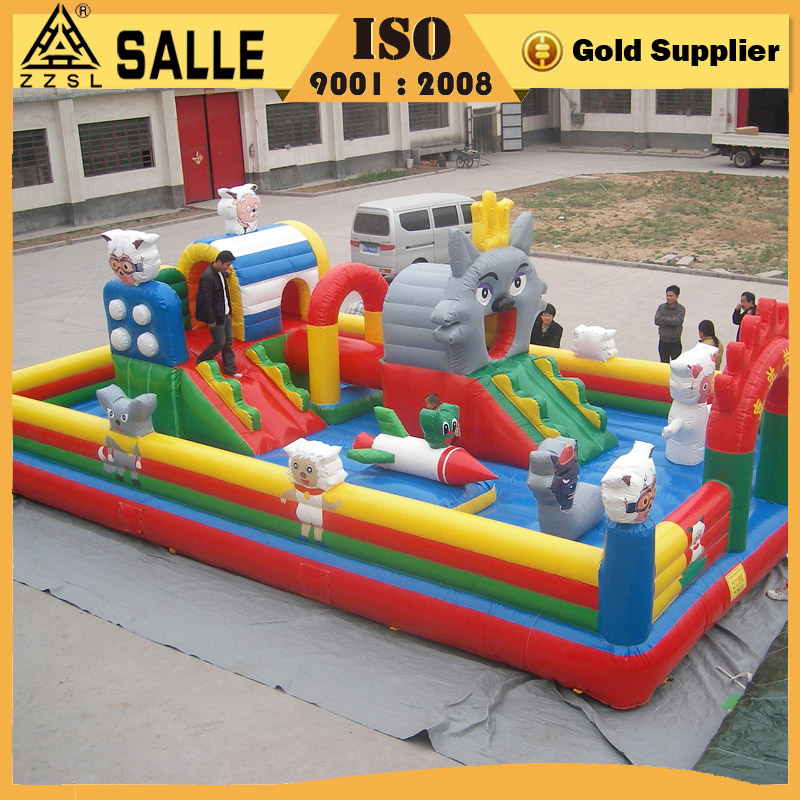 Funfair time inflatable castle inflatable trampoline for sale
