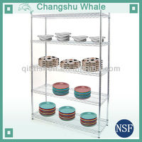 NSF modern kitchen stainless steel wire metal shelves