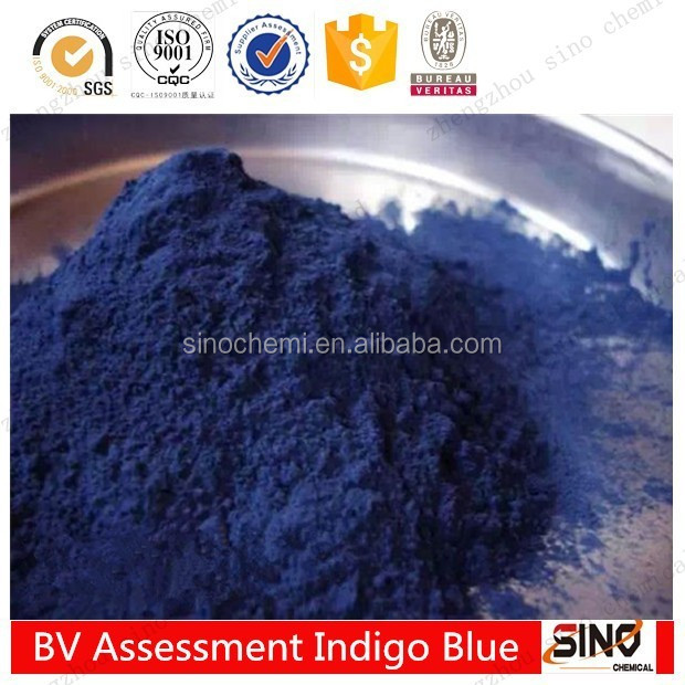 China supplier chemical raw material vat blue indigo 94% indigo powder