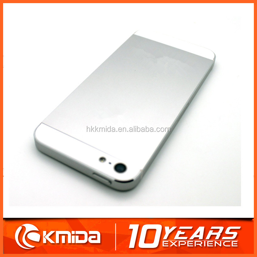 Silver color housing back for iphone 5, wireless charging cover with factory price