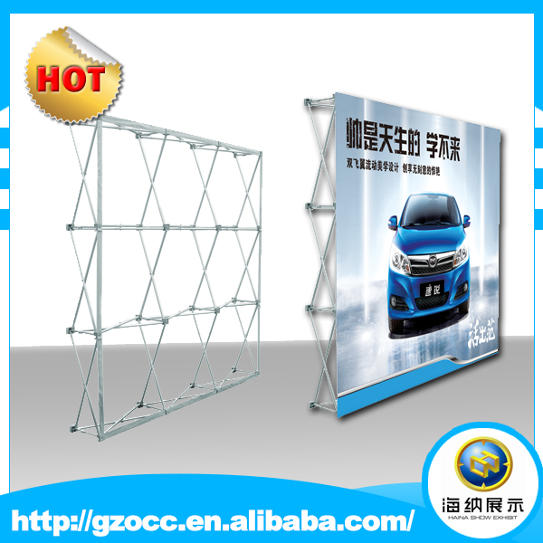 Popular straight foldable aluminum tension fabric veclo floor pop up banner <strong>stand</strong>