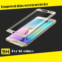 2015 new for Samsung Galaxy s6 edge plus full curved colorful glass screen protector tempered 9H hardness 3D