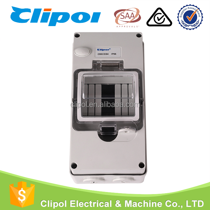 Switch IP66 RCD Enclosure 4p waterproof electrical switchgear