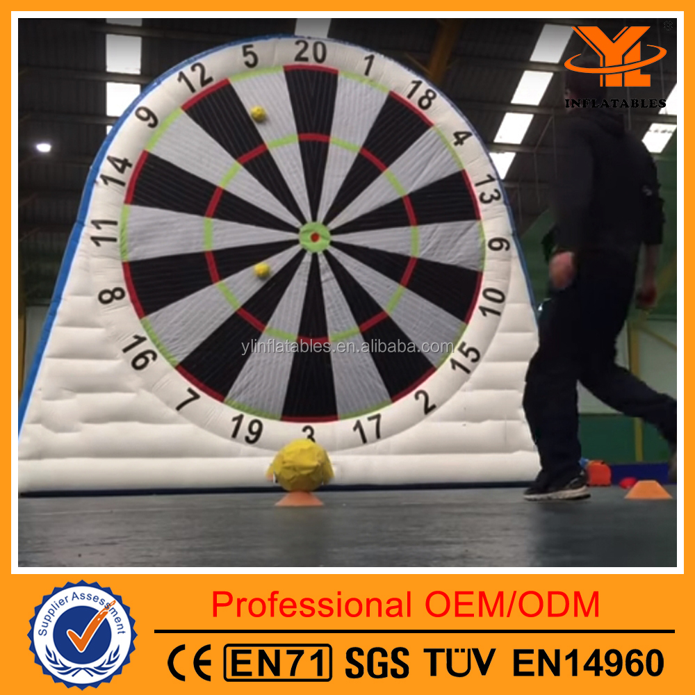 Inflatable Velcro Soccer Darts, Dart Board and Ball for Sale