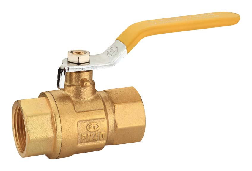 1/2' Long handle double female brass ball valve
