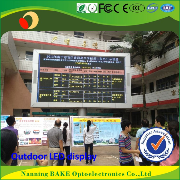 P16 outdoor high brightness advertisement led display outdoor led clock time date temperature sign