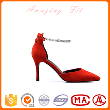 Elegant chian bridal shoes vintage fancy pointed-toe wedding sandals for ladies