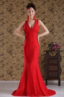 SZRR1523 gorgeous red mermaid long evening dress 2015