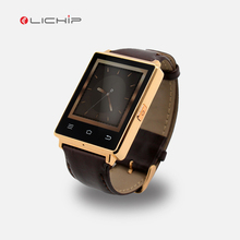 LICHIP 2017 bluetooth 4.0 touch screen android 5.1 GPS wifi 3G checking temperature weather forecast D6 smart watch phone