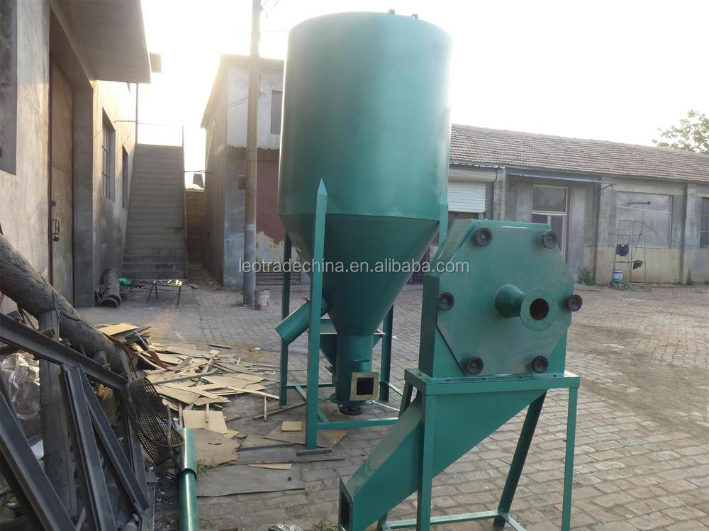 feed mill and mixer for small scale poultry farm animal poultry feed mill