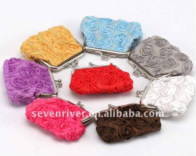 Fashion Rose Small Coin Wallet/Coin Purse/Coin Bag for child