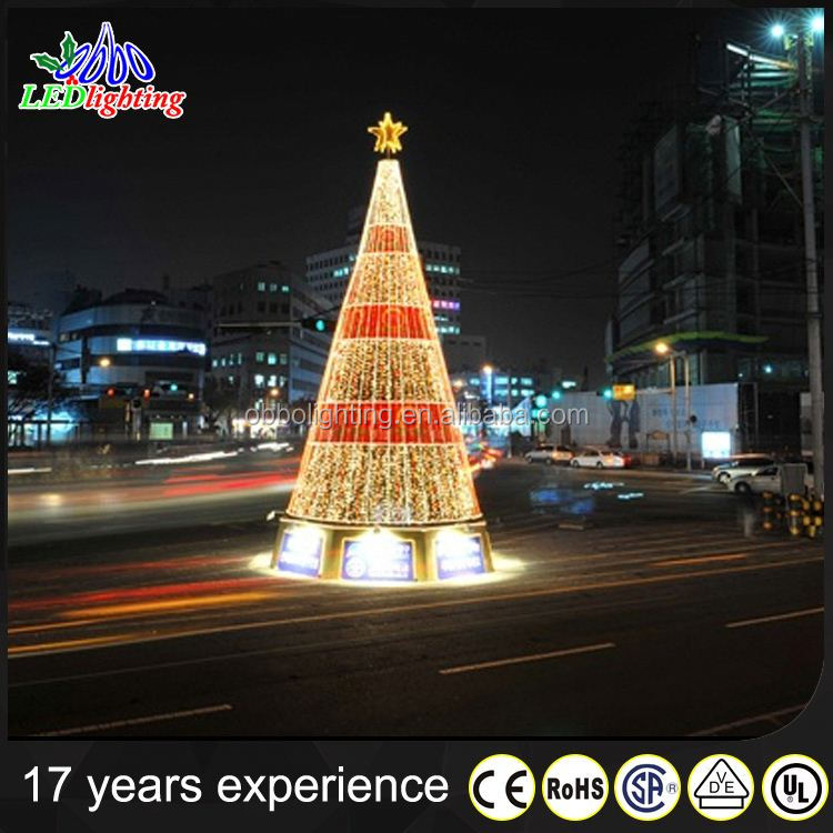 2015 New Style colorful Artificial Large Christmas Outdoor Led Tree Lights with simulation trunk