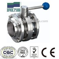 stainless steel 3 piece butterfly valve