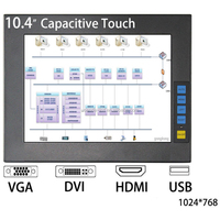 cheap 10.4 inch Industrial Touch Screen Monitor with Capacitive/IR/Resistive touch
