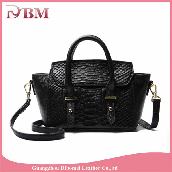 hot sale designer lady guessing leather handbag crocodile women handbag short handle bag