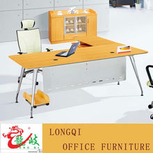 fashion modern design modular melamine wooden office furniture simple office table with steel leg and modesty board