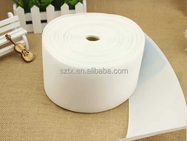8cm to 12cm white woven eyelet curtain ring tape for curtains