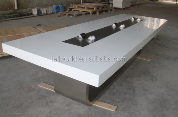 Ordinaire Oval Conference Desk With Outlets Solid Surface Meeting Table