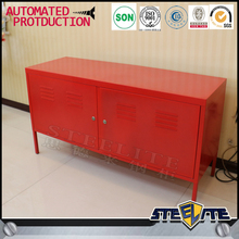 Living room 2 door red locker tv cabinet stand wardrobe with tv cabinet