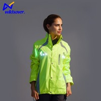 LED fashion safety outdoor hoodie crane brand jacket motorcycle