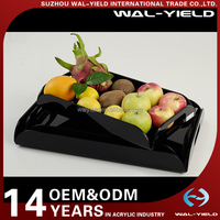 Black fruit Acrylic serving tray with handles