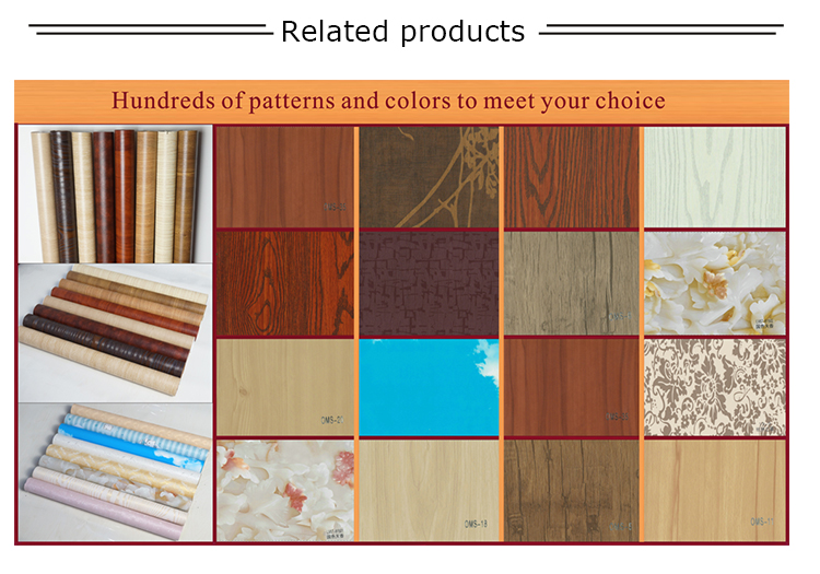ECO -friendly PVC self adhesive wood grain film for furniture