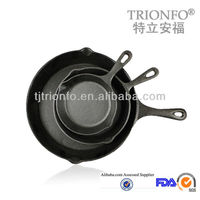 TRIONFO Pre Seasoned Cast Iron Frying