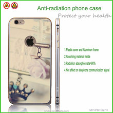 Silver frame flexible plastic cover Chinese style phone case with anti-radiation function