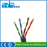 High quality Cat5e/Cat6 4 pairs UTP LAN cable, network cable with copper conductor PE insulation