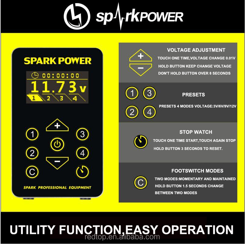 New Spark Tattoo Power Supply