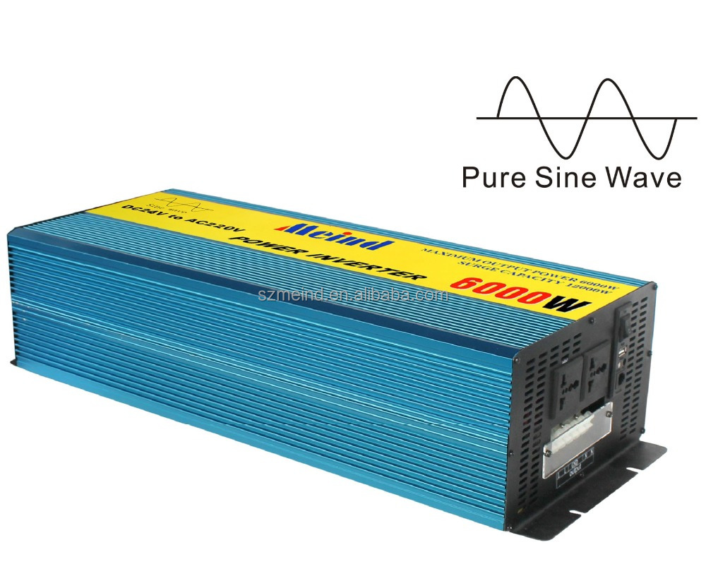 China best quality manufacturer DC12V to AC220V 5000W-6000W Pure sine wave inverter with Battery charger