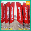 Banner, 100% polyester custom advertising outdoor feather flag