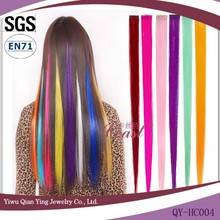cheap synthetic hair extension ombre with one clip