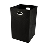 Household Unisex Multipurpose Foldable Lightweight bold hue Black And White Laundry Basket With Metal Eyelet Handles