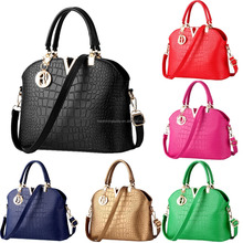Best selling high quality pu handbags ladies fashionable pu shoulder bag coconut shell hand bag