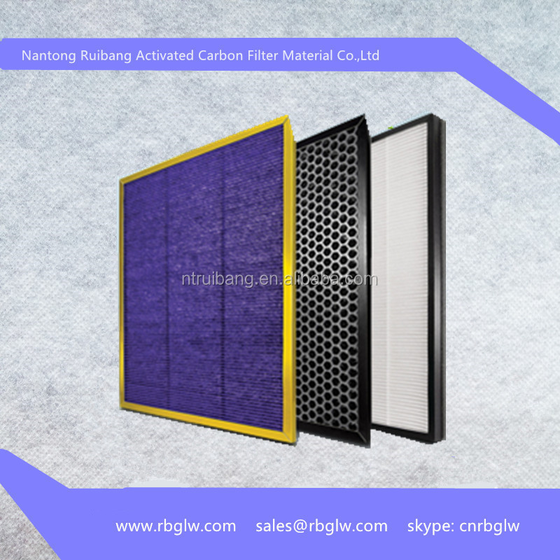 plastic honeycomb filter activated carbon