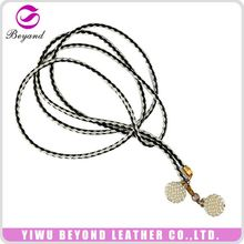 Newest selling simple design tassel braided rope belt for sale