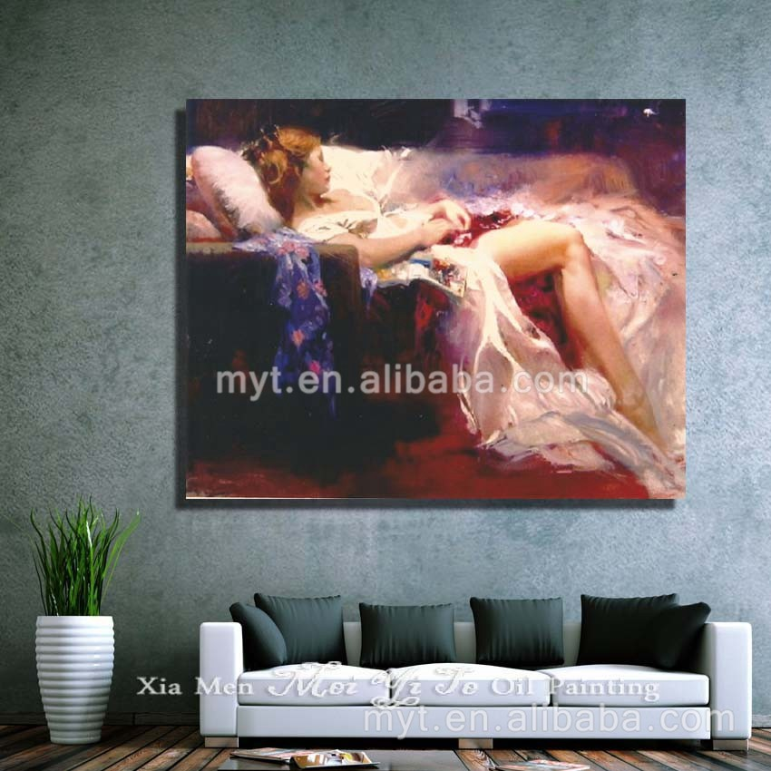 Nighty dress sexy wall hanging girl painting for decorations impressionist nude women body art