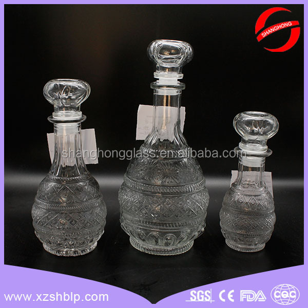 Hot sale clear glass wine decanter