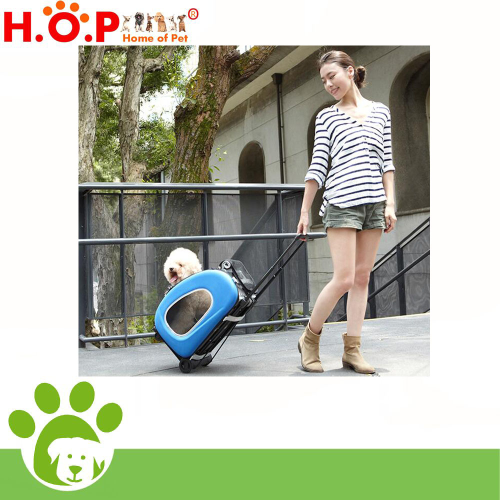 Dog foldable cage with wheels/ Roll cage trolley