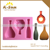 K-sun reposteria beer bottle silicone fondant mould China supplier