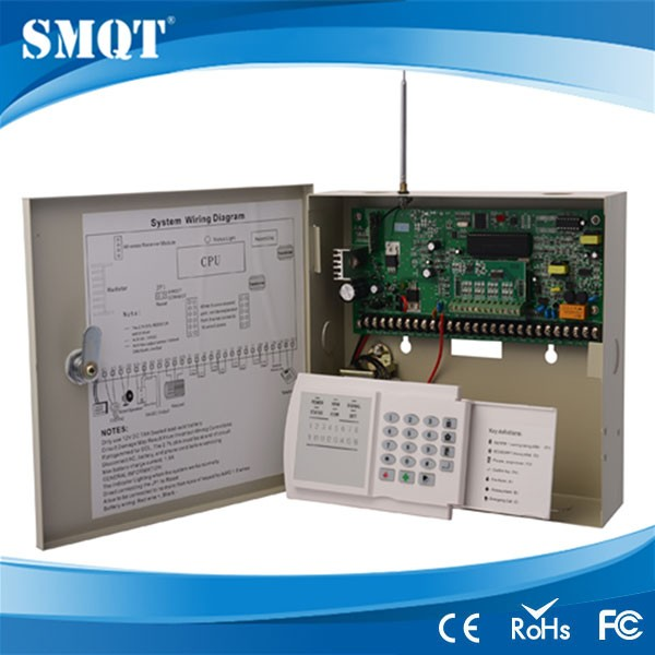 wired and wireless alarm control panel with watch dog