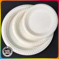Disposable Biodegradable Corn Starch Tableware 7 inch Round Plate