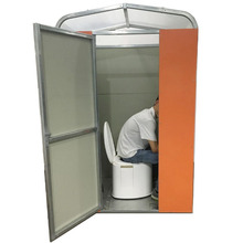 Outdoor use portable and movable squat toilet without flush