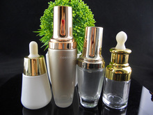 30ml 50ml 100ml Classic cosmetic glass bottle and glass jars Face Lotion, serum, cream, essential oil containers