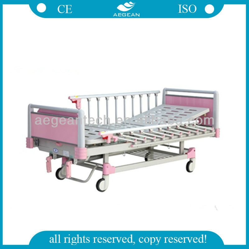AG-CB012 2 Function Discount Popular Hospital ABS child iron canopy bed