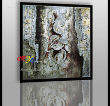 Modern Artwork stone cave pillar oil painting on canvas home decor