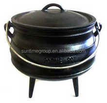 Pre-seasoned cast iron cauldron south africa three legged pot