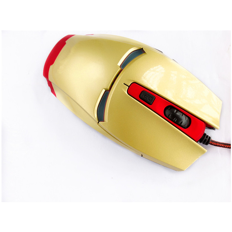 OEM computer Optical Wire iron man mouse