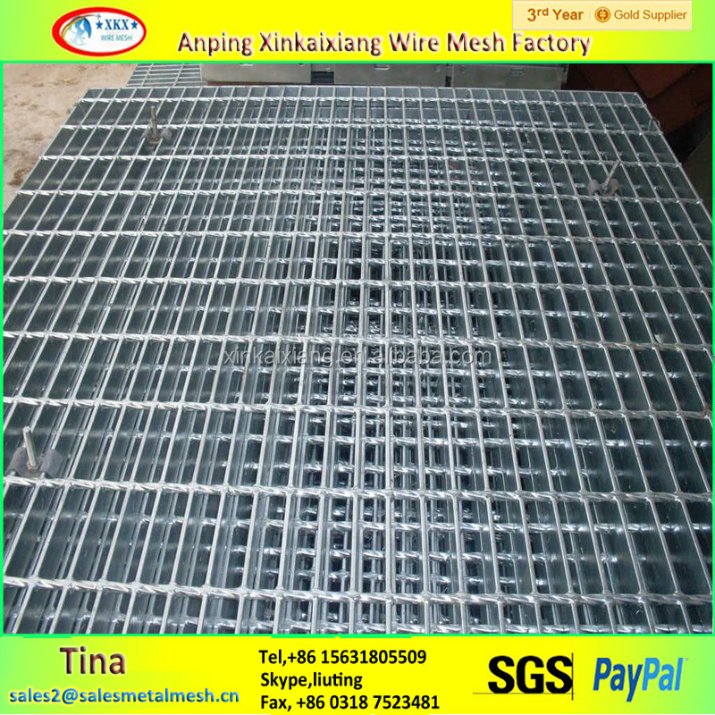 swimming pool overflow grating, hot dipped galvanized grating
